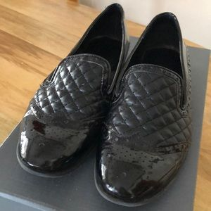 Size 9B Franco Sarto Black Quilted Loafer